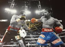 MANNY Pacquiao HAND SIGNED PHOTO 16x12 WORLD CHAMPION RARE COA