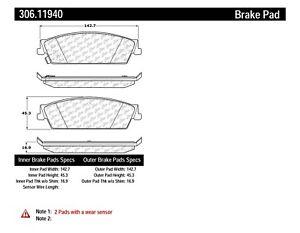 Disc Brake Pad Set fits 2007-2014 GMC Yukon,Yukon XL 1500 Sierra 1500 Sierra 150