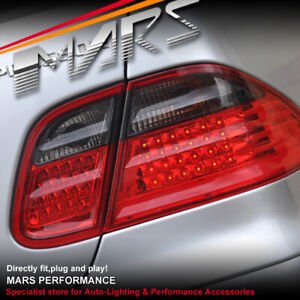 Smoked Red LED Tail Lights for Mercedes-Benz CLK-Class W208 C208 A208 1997-2002