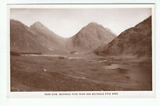 Glen Etive Buchaille Etive Mhor And Bheg Argyll Real Photograph Old Postcard