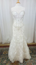 NEW Angelina Faccenda Couture Mori Lee Bridal Gown Wedding Dress 1284 Ivory Sz12