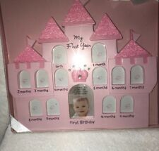 Baby's First Year Gallery Photo Frame Pink 13 Pictures