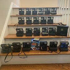 Massive Collection Lot: 22 Polaroid One Step Cameras, Rainbow Sun 600/660 + Film
