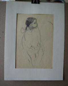 Antique Original Russian 1960 artist Klara Ivanovna Kalinycheva Drawings