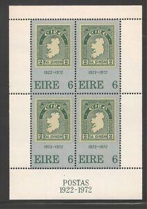 Ireland #326a (A92) S/S VF MNH - 1972 6p 1st Irish Postage Stamp - 50th Anniv.