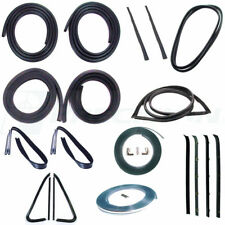 73-77 Chevy Complete 20PC Kit Door Gaskets Chrome Glass Weatherstrip Vent Seals