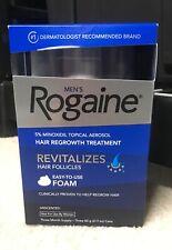Mens Rogaine Foam 5% Minoxidil Hair Regrowth Treatment 3 Months, Exp 10/2021