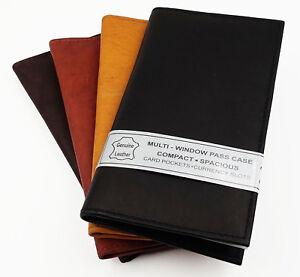 Genuine Leather Checkbook Cover  Wallet Credit Card ID Slim Organzier Men Ladies