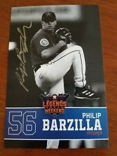 Philip Barzilla Autographed 4x6 Card Houston Astros Legends Weekend (2017)