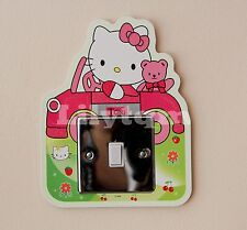 Hello Kitty Taxi Light Switch Cover Sticker Glow In Dark Girls Room Decoration