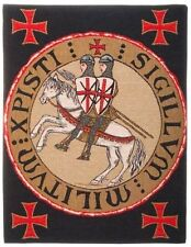 "NEW SCEAU TEMPLIER KNIGHTS TEMPLAR SEAL TAPESTRY LINED WALL HANGING, 23"" X 18"""