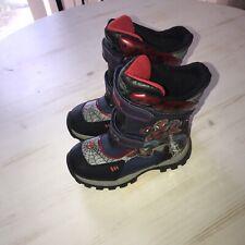 Marvel Spider-Man Light Up Snow Boots Toddler Size 11