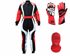 LRP Adult Kart Racing Suit- Freedom Suit Package Deal 1 Black/White/Red