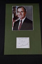 GEORGE  BUSH Senior signed Original Autogramm 20x30 cm Passepartout US PRÄSIDENT