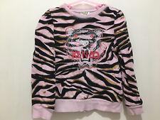 Girls Designer Kenzo  Pink Gold Tiger Print Large Logo Jumper 8yrs💗💗