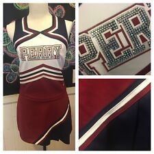 """Real Cheerleading Uniform PERRY med 33-34""""b 27-28""""w Crystals"""