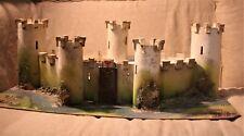 Ancien château fort médiéval - Années 60 - Bois carton peint
