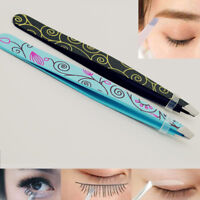 Professional eyebrow tweezers hair beauty slanted stainless steel tweezer FN
