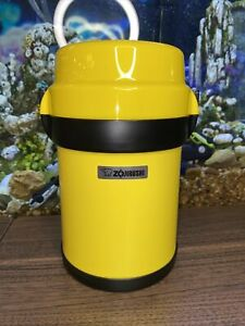 Zojirushi SL-JAE14 Mr. Bento Stainless Steel Yellow Lunch Jar Thermo Very Clean