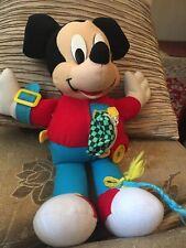 "Vintage Disney Mickey Mouse 20"" Tall  Stuffed Doll With Bag And Watches"