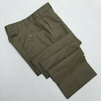 Zanella Green flat front dress pants W35x33 Made in Italy
