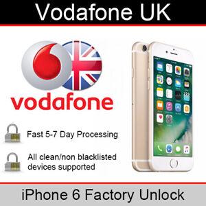 Vodafone UK iPhone 6 Factory Unlocking Service