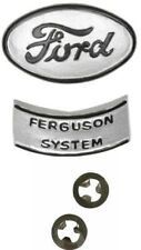 2n16600 Hood Emblem Original Style For Ford 9n 2n Tractors 2 Piece With Speed Nuts