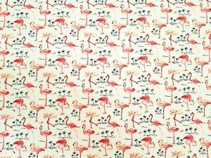 Flamingo's Design - Rose and Hubble craft cotton poplin fabric