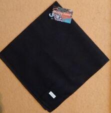 "Solid Black Bandana - 100% cotton - 22"" x 22"""