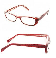 2 Pairs New  Foster Grant Cats Eye Red Wine Reading Glasses +2.00 Strength