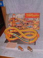 """1958 TECHNOFIX NR. 290/2 """"TOBBOGAN"""" 2 TROLLY SET, 100% COMPLETE & WORKING W/BOX!"""