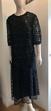 Vintage Collectable Givenchy En Plus  Dress Black Sequinned Lace Dress 46/18uk