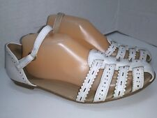Easy Spirit E360 Womes Gal Friday White Leather Sandals Ankle Strap Size 10 M