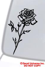 ROSE Vinyl Decal Sticker Car Window Bumper Wall Laptop Flower Black Love Symbol