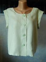 🔻  HOBBS  Light Green 100% Linen Blouse Sleeveless Size UK 14