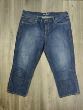 Women's The Flirt Jeans Size 12 Mid Rise Dark Wash Free Shipping