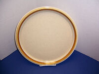 "Mikasa Stone Manor Chop Plate (12.5"") Tan w/ Brown Band NICE Coordinating Piece"