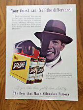1955 Schlitz Beer Ad  In the Schlitz Original Half-Quart Can
