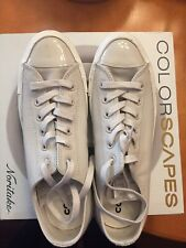 Converse White All Star Leather Patent Low Top Sneakers