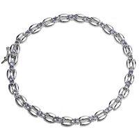 Damen Armband echt Silber 925 Sterlingsilber mit Iolith blau 20 cm lang