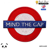 Mind The Gap London Tube Embroidered Iron On Sew On Patch Badge For Clothes etc
