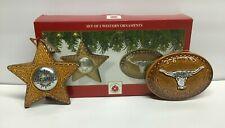 Dillard's Brown Glass Western Style Ornaments