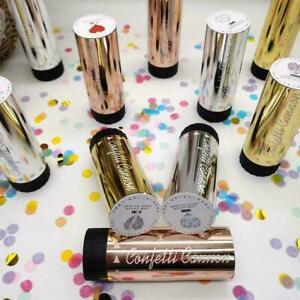 Compressed Air Confetti Cannons Wedding Birthday Baby Poppers Shower C5B6 Q1Y6