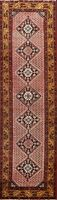 Excellent Paisley Traditional Botemir Runner Rug Hand-knotted Oriental Wool 3x10