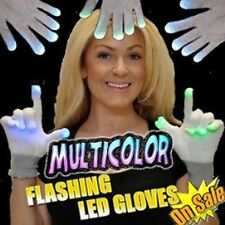 White HALLOWEEN LED Rave Party Dance Techno Flashing Hands - BLOWOUT- FREE SHIP!