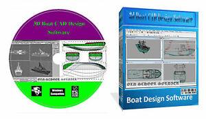 3D Boat Ship Hull Yacht Build Building Designing Software Ship Maker CAD PC CD +