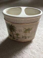 Ceramic Palm Toothbrush Holder