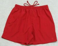Wilson Red Athletic Shorts Size Medium Polyester Man's Men's Drawstring Elastic