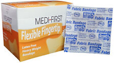"""Heavy Weight Adhesive Bandages 1 3/4"""" x 2"""" Flexible Fabric Small 80 Fingertips"""