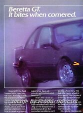 1988 Chevrolet Beretta GT 2-page Advertisement Print Art Car Ad J762